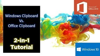 How To Use Clipboard in Windows 10 and Microsoft Office 2019 Tutorial