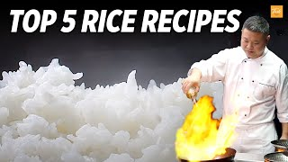 Top 5 Rice Recipes By Masterchef l How To l Cooking Chinese Food  Taste Show