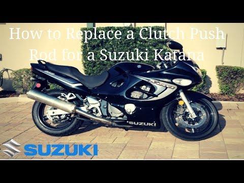 How to replace a clutch push rod for a suzuki katana