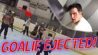 GoPro Roller Hockey - OUR GOALIE GETS EJECTED! BLOOD DRAWN! (HD)