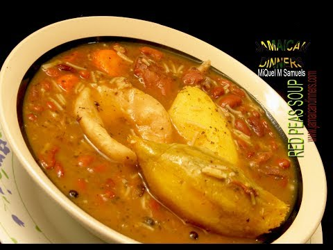 RED PEAS or KIDNEY BEANS SOUP: Jamaican Soups Cookbook