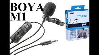 Лучшая петличка Boya BY-M1 Обзор и тест петличного микрофона s3mki