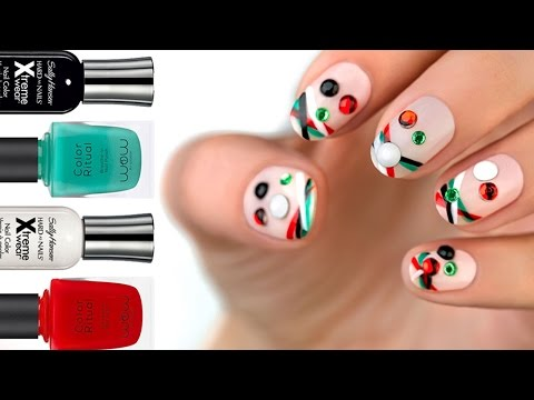 Wojooh Nail Art - UAE National Day - Win, Love, Victory
