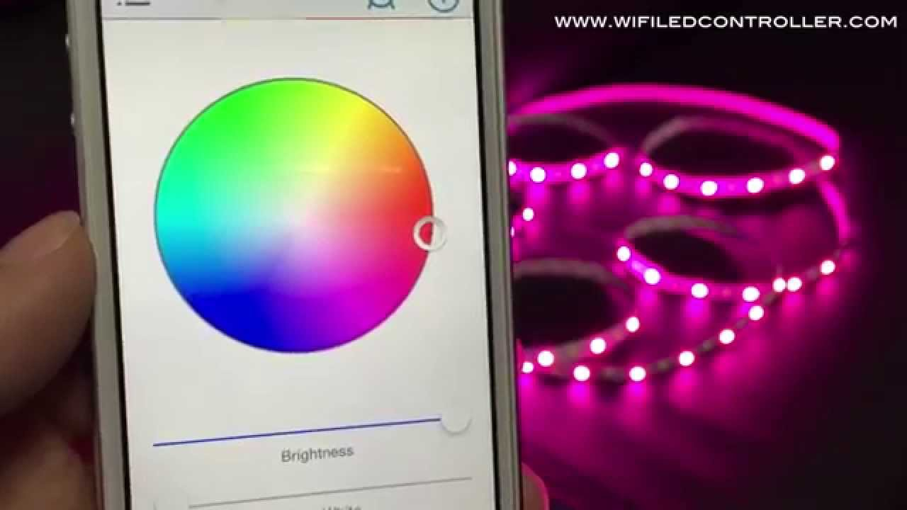 wifi led controller rgbw led strip app control instruction