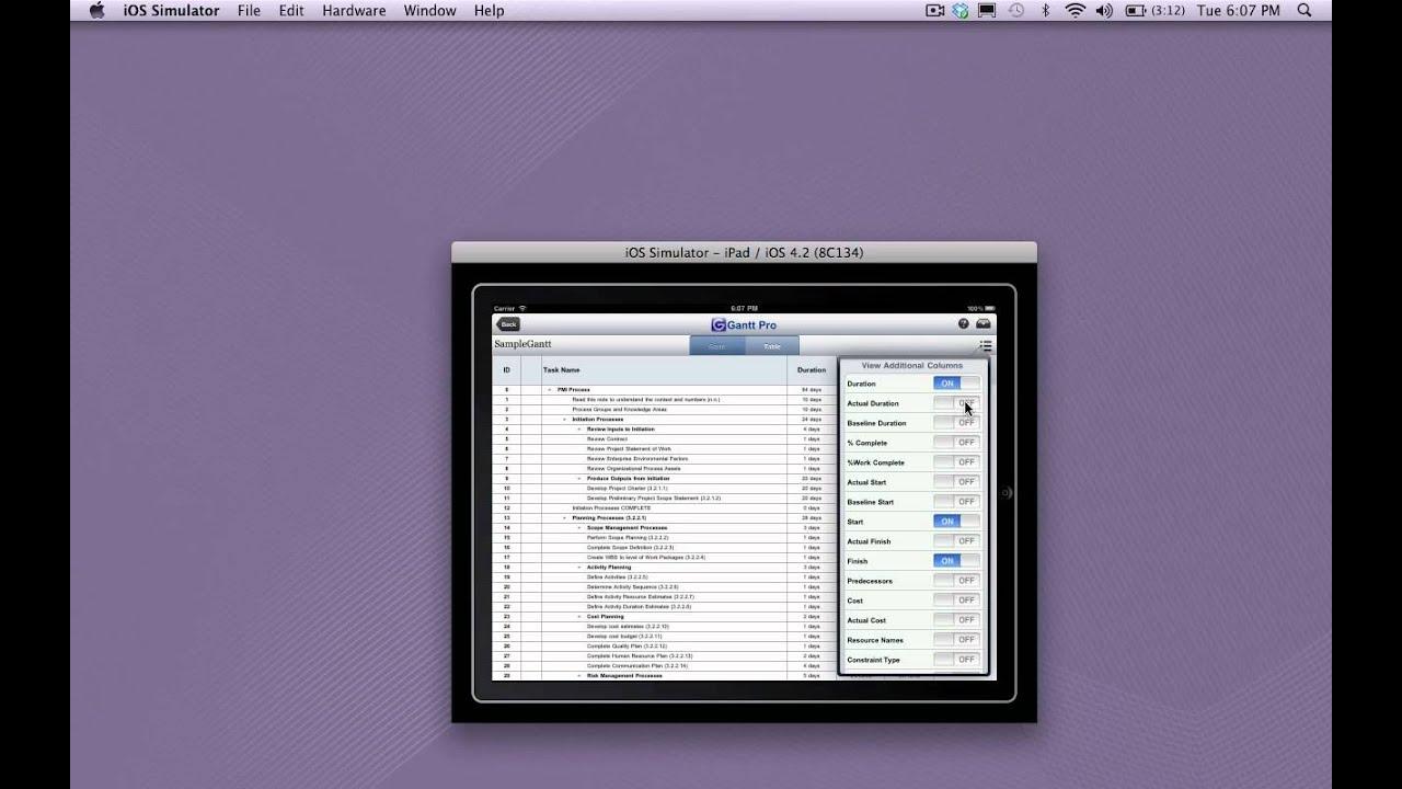 Using gantt pro app youtube using gantt pro app nvjuhfo Choice Image