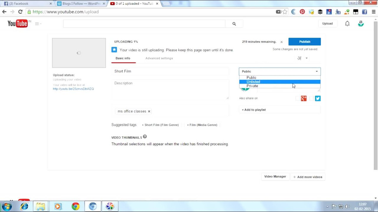 How To Upload Videos On Youtube  Learn  Full Tutorial In Telugu