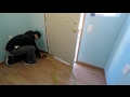 HOW TO INSTALL LAMINATE WOOD FLOORING AND TRIM WORK!