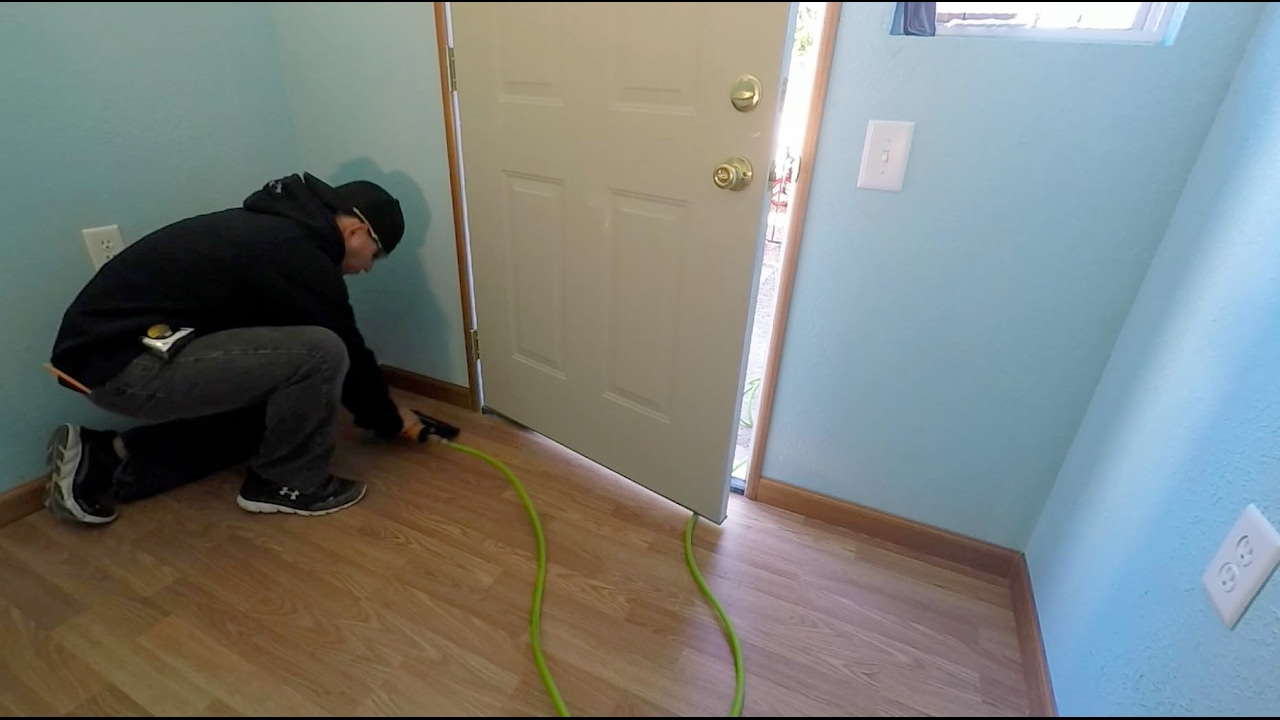 How To Install Laminate Wood Flooring And Trim Work