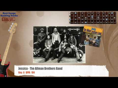 Jessica - The Allman Brothers Bass Backing Track