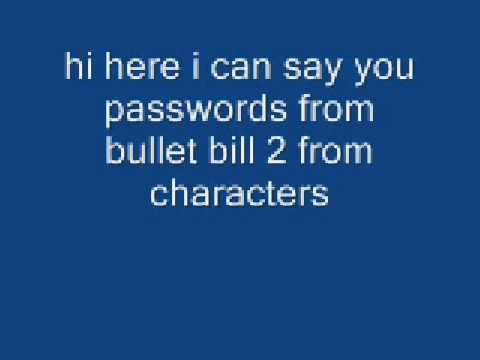 Bullet Bill 2 Cheats For Characters