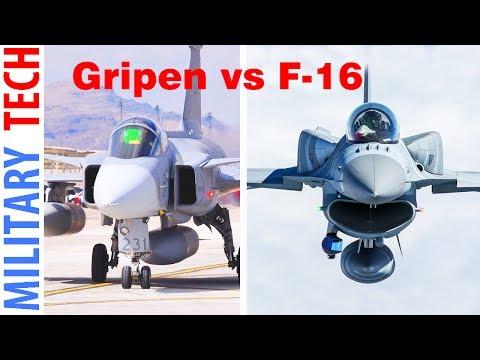 Saab JAS-39 E Gripen vs F-16 Fighting Falcon Comparison