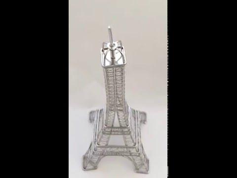 Eiffel Tower Replica Statue, 12 Inch Steel Wire Model