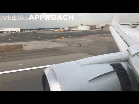 American Airlines Boeing B767-300ER landing at New York JFK