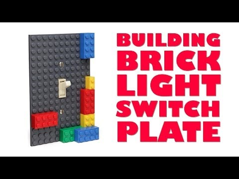 Building Brick Light Switch Plate from ThinkGeek