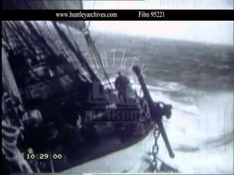 Sailing Ship Battles Through an Atlantic Storm, 1938 - Film 95221