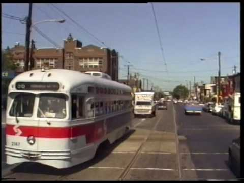 Philadelphia-A Ride on Trolley Route 56, On-Board and Driver's View