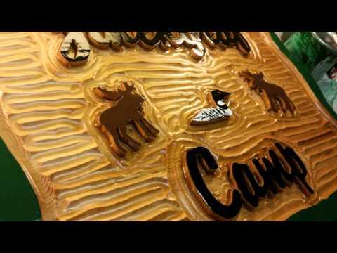 Signature II Custom Carved Signs by Adirondack Jim