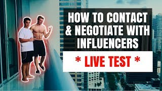 How To Make Connections With Influencers *LIVE TEST*