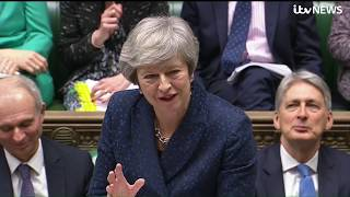 Theresa May faces MPs in PMQ's in the Commons | ITV News