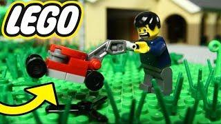 MEU CORTADOR DE GRAMA QUEBROU no LEGO !