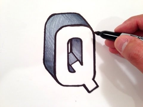 How to Draw the Letter Q in 3D