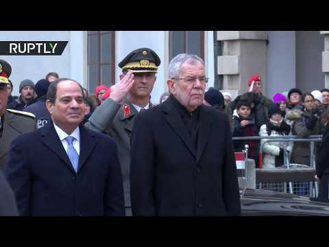 استقبال الرئيس المصري في قصر هوفبورغ الرئاسي في فيينا لأول مرة  - نشر قبل 60 دقيقة