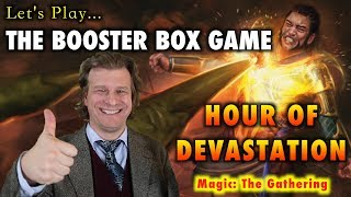 lets play the booster box game hour of devastation launch for magic the gathering