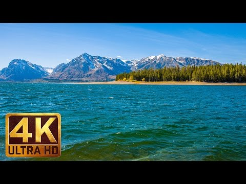Jackson Lake 2 Hours Relaxation Video in 4K with Nature Sounds | Grand Teton National Park - Part 1