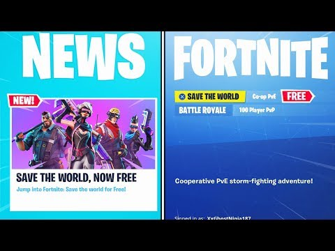 FINALLY.. Save The World FREE in Fortnite!