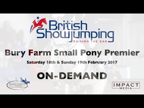 Bury Farm Small Pony Premier   Winter 128cm 2nd Round   Sunday 19th February 2017