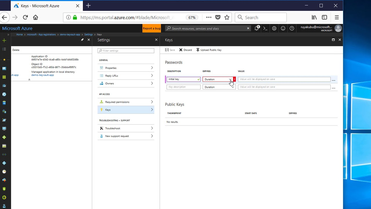 Azure Key Vault: How to Register your Java App in Azure Active Directory  (Part #3)