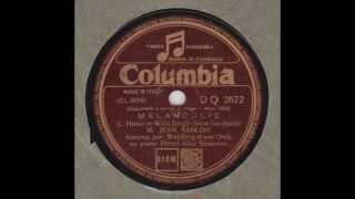 """Jean Sablon """" Mélancolie """"     1937"""