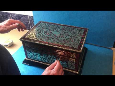 French Antique Boulle Jewellery Box
