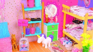 6 DIY Miniature Dollhouse Rooms: Bathroom, Unicorn, Nursery, etc.