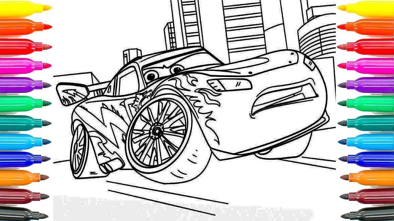 how to paint new cars 3 lightning mcqueen learning coloring pages
