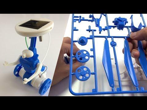 1. solar robot (How to make  6 in 1 educational diy solar toys kit) 태양열 장난감 키트, 솔라 로봇 만들기