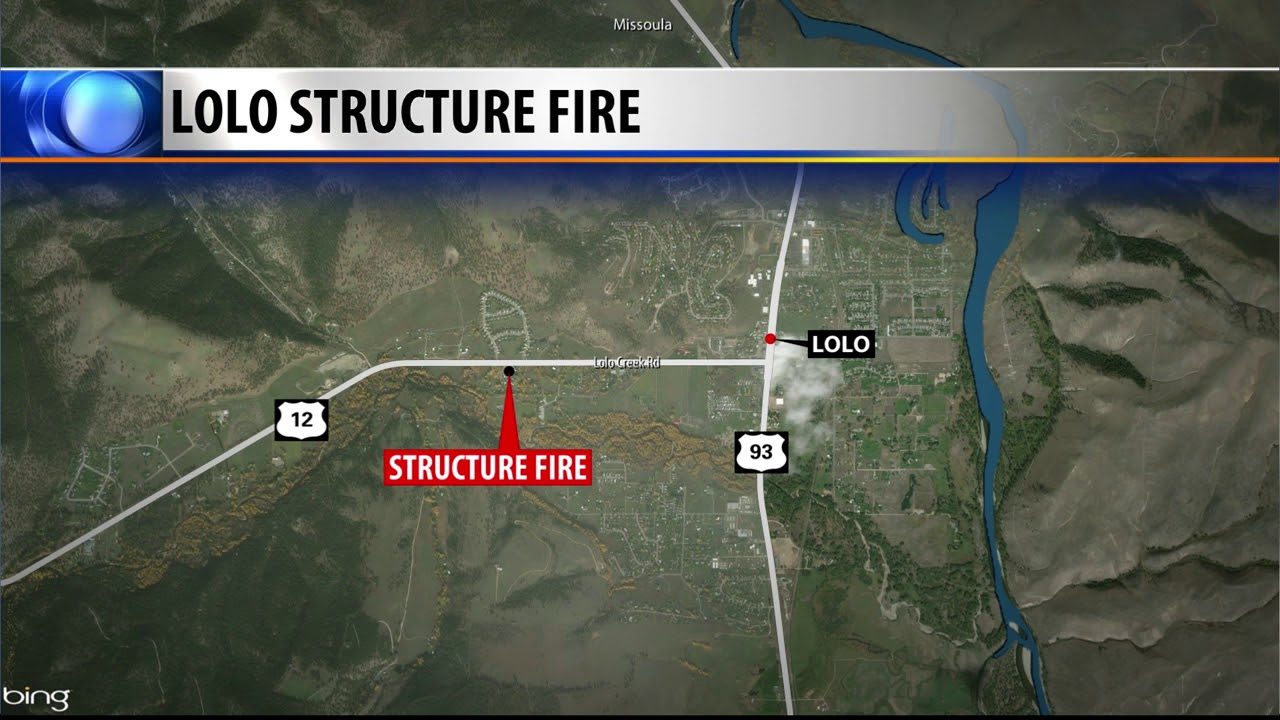 Crews Battle Structure Fire Near Lolo Youtube