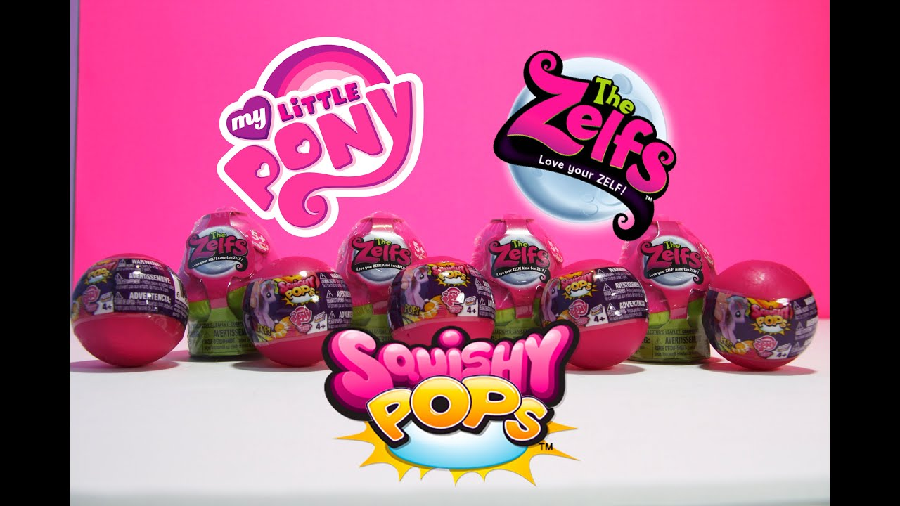 My Little Pony Squishy Pops opening and Zelfs Unboxing! - YouTube