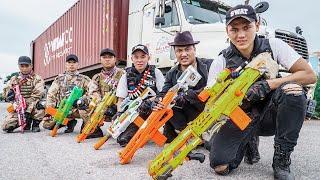 LTT Game Nerf War : Warriors SEAL X Nerf Guns Fight Break Through Power Braum Crazy Wanted Man