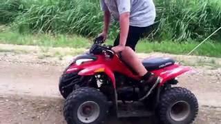 50cc four wheeler fun|WHEELES