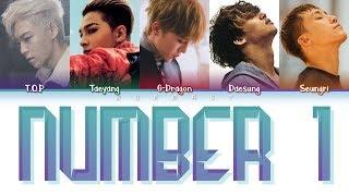 BIGBANG (빅뱅) - NUMBER 1 (Color Coded Lyrics Eng)