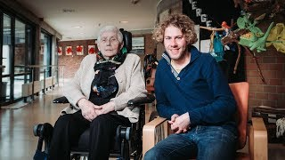Wannes Deleu en grootmoe Rosa getuigen