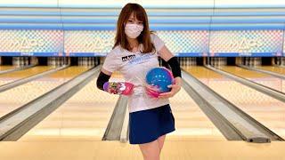 ボウリング女子の練習風景98(Bowling Practice)2021/9