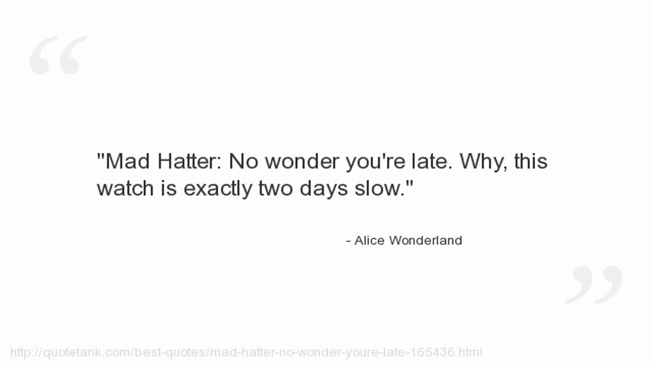 Alice In Wonderland Quote Alice Wonderland Quotes  Youtube