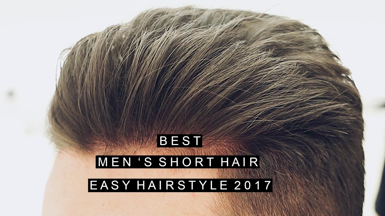 men's short hairstyle