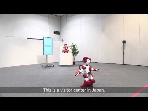 Corporate Travel Concierge presents customer service robots at Tokyo Airport