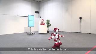 Corporate Travel Concierge presents customer service robots at Tokyo Airport