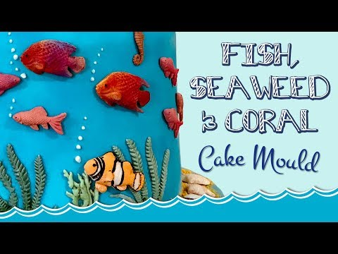 Fish, Seaweed & Coral Cake Decorating Tutorial | Seaside Mould Collection