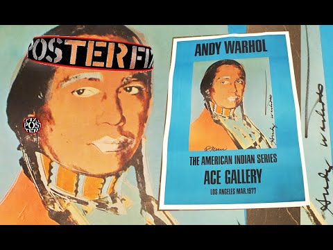 Andy Warhol American Indian Series  1977 Poster Fix