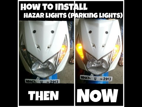 How to install hazard lights(parking lights) on scooters and motorcycle's | Honda dio 3g
